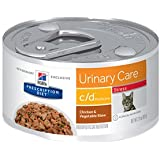 Hill's Prescription Diet c/d Multicare Urinary Care Stress Chicken & Vegetable Stew Canned Cat Food 24/2.9 oz