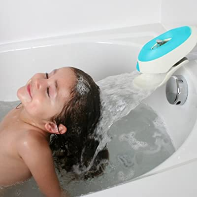 Boon Flo Water Deflector and Protective Faucet Cover with Bubble Bath Dispenser