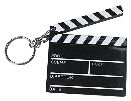 12 Hollywood Clapboard Keychain Movie Director Actor Novelty Gift Party Favors ()