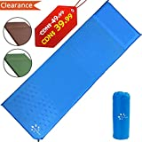 Sleeping Pad, Fruiteam Self Inflating Camping Pad Mat with Attached Pillow, Air Mattress