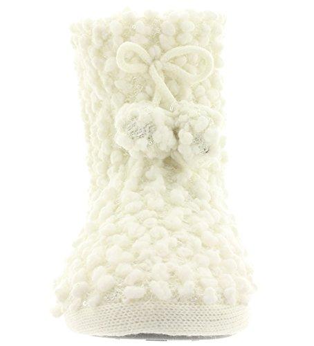 Hüttenschuhe Hausschuhe SNOWFLAKE DREAM 35258 Off White