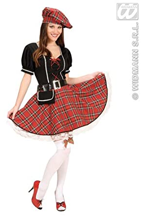 Ladies Bonnie Scot Costume Scottish Fancy Dress