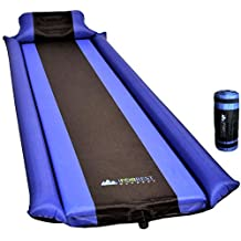 IFORREST Sleeping Pad with Armrest & Pillow - Ultra Comfortable Self-Inflating Foam Air Mattress is Ideal for Travel, Camping & Hiking, Backpacking, Cot, Hammock, Tent & Sleeping Bag!