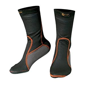 Chaussettes Thermique Anti Froid Respirant Unisexe Hivernal Moto Motard noir S