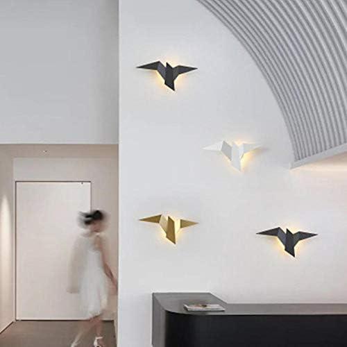 Vogel Wandlampe Kreative Persönlichkeit Rezeption Hintergrund Wand Modellierlampe Einfaches Wohnzimmer Schlafzimmer Flur Nachttisch Wandlampe-Natürliches Weißgold