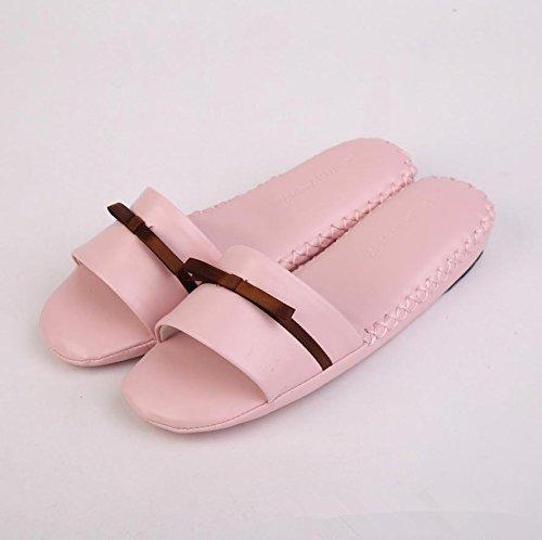 mhgao Ladies Nueva interior suave suelo y Lovely Ladies Slip Casual zapatillas rosa