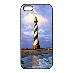 good Diy Customize Lighthouse Pattern case cover cell phone Cover case cover for iphone hpTnG3B2kIc 5c Black ZDSVEN