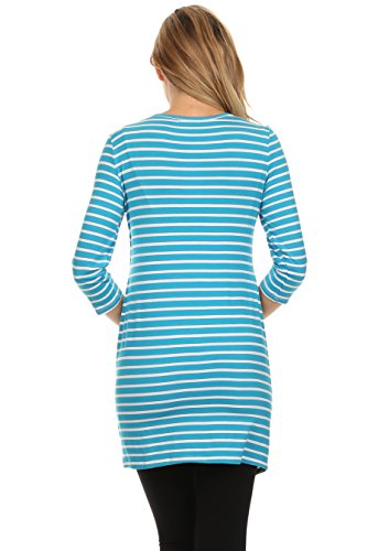 BellyMoms Bailey Stripe Maternity and Nursing Top (Blue and White, Medium) by BellyMoms (Image #4)