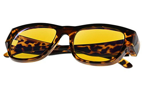 Fit over Blue Light Blocking Glasses Computer Gaming Eyeglasses Eyewear for Men Women Tortoise Frame by Computer Glasses