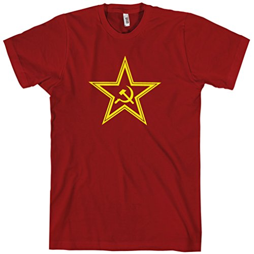 Smash Vintage Men's USSR Soviet Star T-shirt - Dark Red, XXX-Large (Soviet Star Ussr T-shirt)