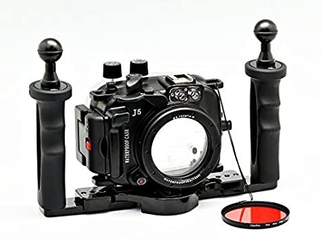 camdive 40 m/130ft para Nikon 1 J5 (10 mm) carcasa submarina ...