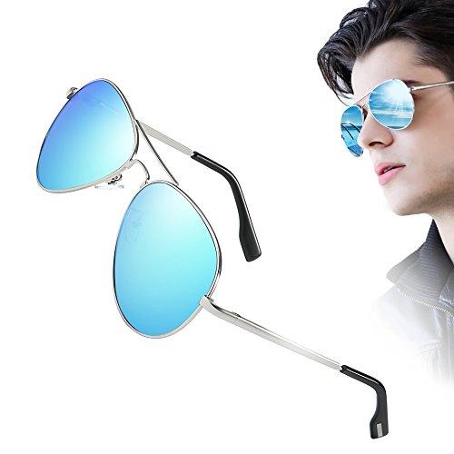 Men Classic Aviator polarized Sunglasses 100% UV Protection Driving Sun (Classic Metal Aviator)