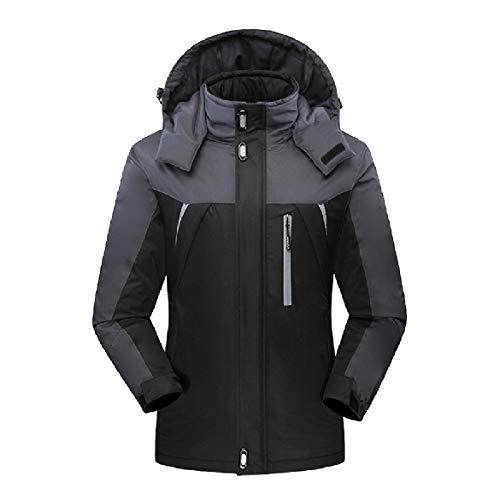 Black Outwear Active Full Warm Down Men Waterproof Howme Fleece Zip Jacket vT5S45qw