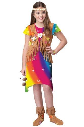 [California Costumes Flower Child Costume, Large] (Girls 70s Costume)