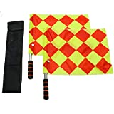 IDS 1Pair Soccer Football Linesman Referee Flags Metal Pole Foam Handle Carring Tote