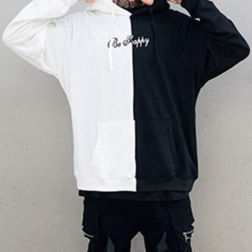 Sweats Pour Capuche Décontracté Hommes Blanc Noir Sweat À Aimado wIq1xY4E