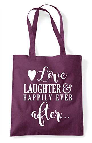 Love Statement Ever Shopper Bag And Plum After Tote Wedding Happily Laughter rYCqwxfSr