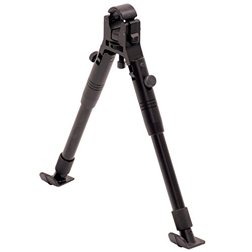 UTG New Gen Clamp-on Bipod, Steel Feet, Cent Ht 9