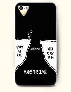 iPhone 4 4S Case OOFIT Phone Hard Case **NEW** Case with Design What We Are Leap Of Faith What We Want To Be Make The Jump- Proverbs Of Life - Case for Apple iPhone 4/4s