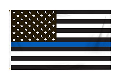 WOWMAR Thin Blue Line Flag American Flag 3x5 FT 100% Made in