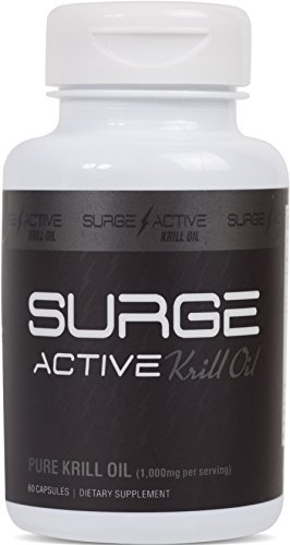 Surge Supplements - Surge Active Krill Oil 1,000 mg - Omega-3's to Support Immune System, High in Antioxidants, EPA/DHA, & Anti-Inflammatory - 60 Capsules