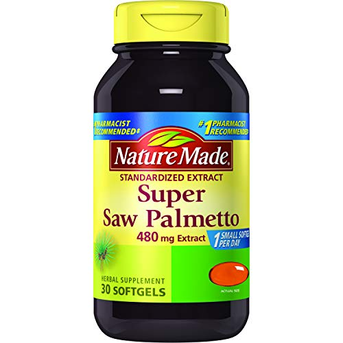 Nature Made Super Saw Palmetto 480 mg. Extract Softgels 30 Ct