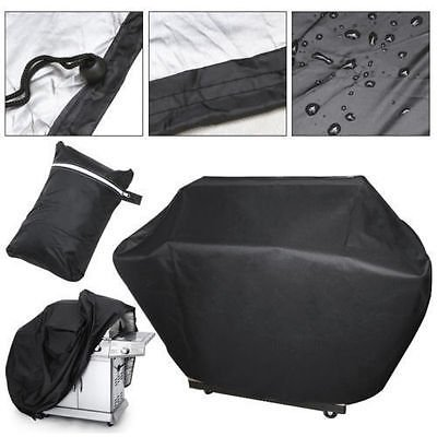 JTW-32 inch Heavy-Duty Vinyl W/Polyester Lining W/PU Coating Waterproof BBQ Cover Gas Barbecue Grill Cover Protection Black Color