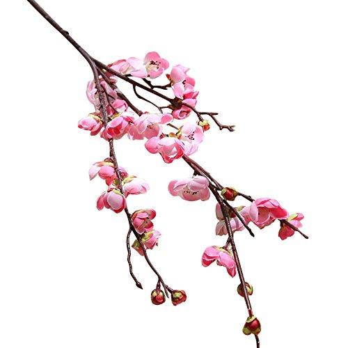 - Miklan Artificial Fake Flowers Plum Blossom Japanese Cherry Blossom Floral Wedding Bouquet Home Decor Pink