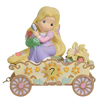 Precious Moments, Disney Showcase Collection, I m In Heaven To Be Seven , Disney Birthday Parade, Age 7, Resin Figurine, 114424