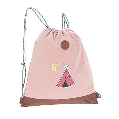 LÄSSIG Kinder Turnbeutel mit Kordelzug Rucksackfunktion Sportbeutel Schule Kindergarten/Mini String Bag, Adventure Tipi, 39 cm, 10 L