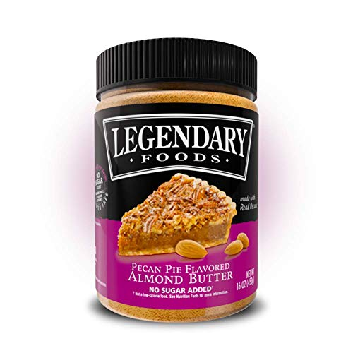 Legendary Foods Almond Butter | Keto Diet Friendly, Low Carb, No Sugar Added, Vegan | Pecan Pie (16oz Jar)