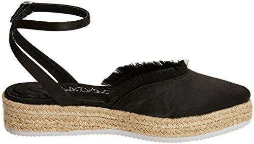 Women's Sixtyseven C40199 Pearl satin Thread Sandals Black Toe Closed Negro TwHq6w
