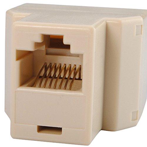 CoCocina RJ45 CAT 5 6 LAN Ethernet Splitter Conector Adaptador PC