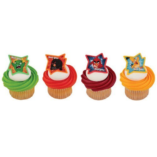 Angry Birds Cupcake Topper Rings - Set of 12