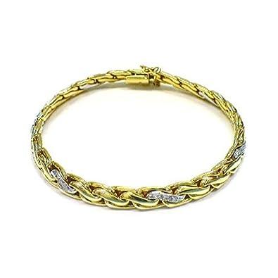a8c72f74038c Armkette - Gold 585 14K Brillanten 0,18ct bicolor  Amazon.de  Schmuck