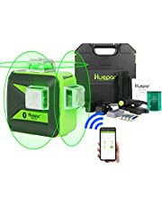 Huepar Three-Plane Self-Leveling and Alignment Cross Line Laser Level-360° Horizontal and Vertical Lines Tool with Hard Carry Case 603BT-H