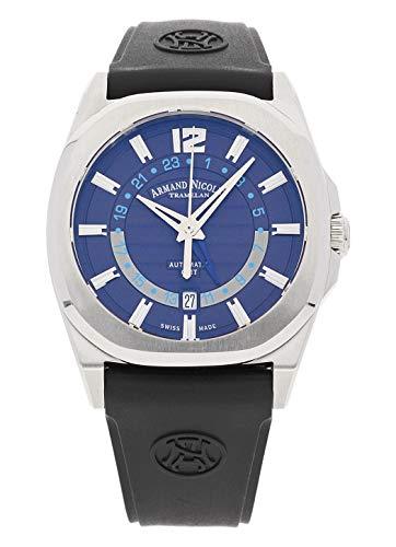 Gmt Automatic Gents Watch - Armand Nicolet Gents-Wristwatch J09-2 GMT Date Analog Automatic A653AAA-BU-GG4710U