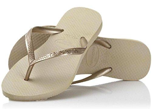 Havaianas Slim Sand Oro Mujeres Nuevo Summer Beach Flip Flops