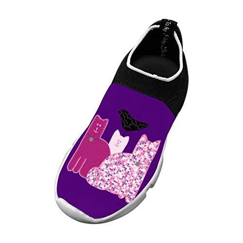 Miranda Sings Favorite Cats 3D Printing Children's Slip-on Flyknit Outdoor Sport Shoes
