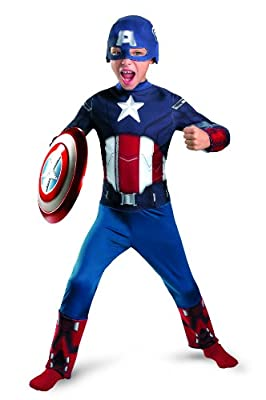 Avengers Captain America Classic Costume Redwhiteblue X-small by Disguise Costumes