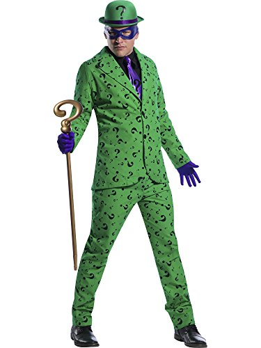Villain Couples Costumes (Charades DC Comics Riddler Men's Costume, As Shown,)