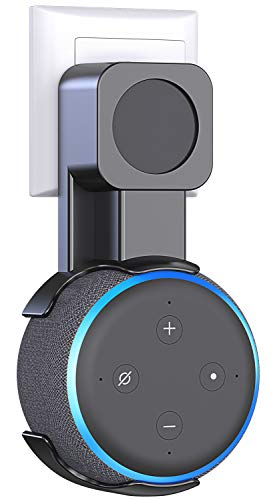 Comsoon Outlet Wall Mount Holder for 3rd Generation & Home Mini, Exposed Speaker, No Muffled Sound Space-Saving Accessories for Smart Home Speaker, Clever Dot Plug Without Mess Wires or Screws, Black