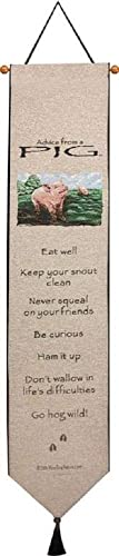 Manual Advice from a Pig 9 inches x 41 inches Bell Pull Wall Hanging Tapestry