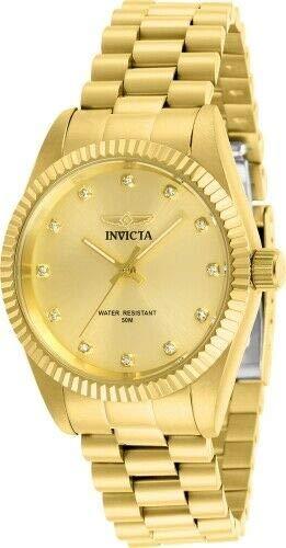 Bracelets Gold Invicta (Invicta 29511 Women's Specialty Gold Tone Dial Bracelet Watch)