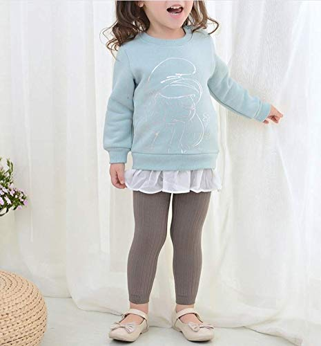 CM C/&M WODRO Toddler Baby Basic Ribbed Leggings Footless Tights Kids Little Girls Dress Bottom Pants