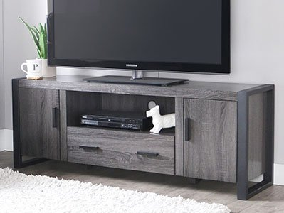 New 60″ Modern Industrial TV Stand Console – Charcoal Review