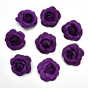 Artificial Flowers Fake Flower Heads in Bulk Wholesale for Crafts Rose Head Silk Rose Bud Wedding Decoration DIY Party Home Decor Wreath Headdress Accessories 20pcs 5cm (Colorful) 4
