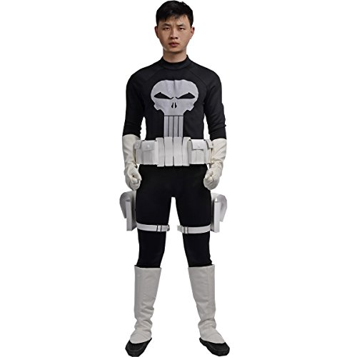 [MLYX Men's Superhero the Punisher Frank Castle Cosplay Large] (Punisher Cosplay Costume)