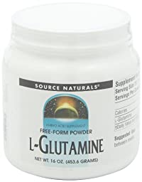 Source Naturals L-Glutamine Powder, Plays an Important Role in Ammonia Disposal, 16 Ounce