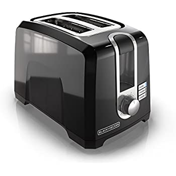 BLACK+DECKER 2-Slice Extra-Wide Slot Toaster, Square, Black, T2569B